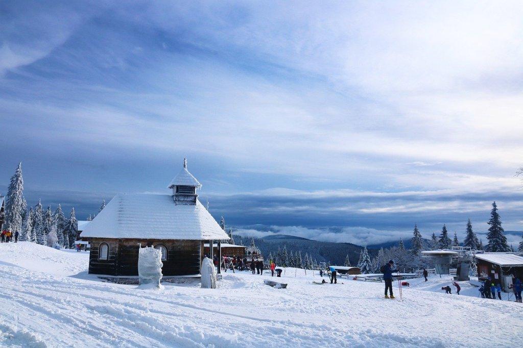 kufri shimla snow covered photo